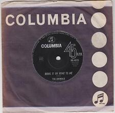 "THE ANIMALS - Bring It On Home To Me - Original 1965 Australian 7"" vinyl single"