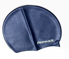 SWIMMING CAP ADULT SIZED MOULDED LARGE SILICONE SWIM CAP  LONGLIFE QUALITY