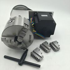 Nema34 Stepper Motor Rotary Axis 100mm 3Jaw Chuck CNC Rotation 4th A Axis Router
