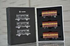 B-models SNCB coffret avec 3 wagons colis comme neuf,compatible marklin