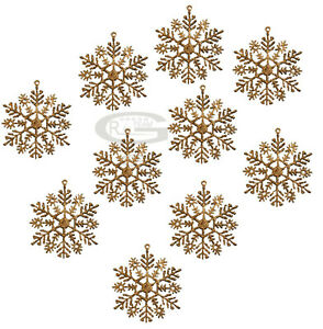 CHRISTMAS SNOWFLAKES TREE GLITTER GOLD SILVER PURPLE HOME XMAS PARTY DECORATION