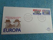 Enveloppe Premier Jour FDC Nederland Europa Wilhelmina Churchill 1980