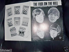THE BEATLES OFFICIAL THE FOOL ON THE HILL SHEET MUSIC NORTHERN SONGS LIMITED ACE