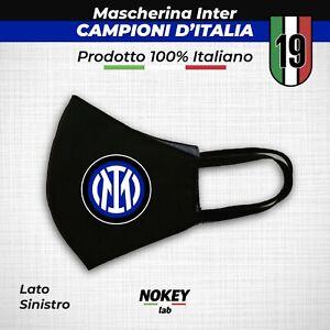 Mascherina Inter Scudetto Campioni Mascherine viso cotone tnt personalizzata