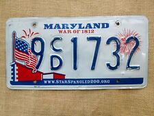 American number plate licence plate license Maryland vintage man cave USA old