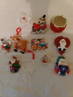 Vintage Christmas Ornaments Lot Of 11, Hand Painted Mickey Mouse and More!!