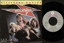 """VANDENBERG Different Worlds  7"""" Ps, German Issue, B/W Too Late-Live, 79.9814-7-N"""