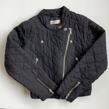 H&M Quilted Motto Long Sleeve Girls Jacket 8-9