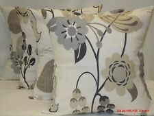 "4 x floral Cushion covers, ""Folia"" 100% cotton,16""x16"""