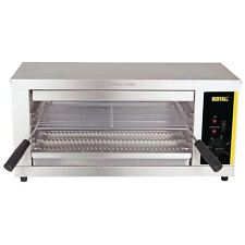 Buffalo Electric Quartz Salamander Grill Stainless Steel Silver Colour