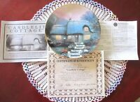 Thomas Kinkade CANDLELIT COTTAGE Plate 3rd Issue In Garden Cottages COA Mint