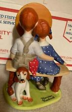 """The 12 Norman Rockwell Porcelain Figurines """" Young Love"""" Danbury Mint"""