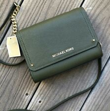 U.S. BOUGHT MICHAEL KORS HAYES SMALL  CLUTCH LEATHER CROSSBODY