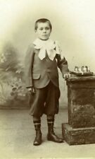 France Paris Boy Good conduct Ribbon old Charles Studio CDV Photo 1903