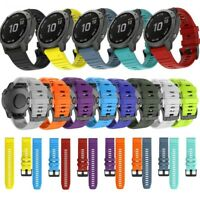 For Garmin Fenix 6X/6 Pro 3HR/5/5X 26MM 22MM Quick Fit Silicone Watch band Strap