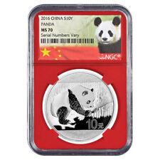 2016 China 30 Gram Silver Panda MS70 Red Label