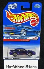 1999  Hot Wheels  Purple  '99 Mustang  First Editions #2 Card #909  HW-19-010118
