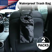Car Trash Bag Can Litter Garbage Keeper Back Seat Headrest Wastebasket Black