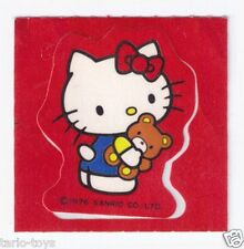 HELLO KITTY 1976 vintage tiny sticker rare red - adesiva piccola rossa rarissima