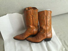 MEN'S JUSTIN GOLD LEATHER WESTERN COWBOY BOOTS SHOES 8 1/2 E STYLE 2912 SEXY