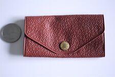 Vtg Salesman Sample Brown Pigskin Park Avenue Key Case Wallet Keeper #20626