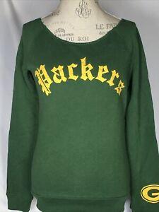 Women's Green Bay Packers NFL Junk Food Champion Fleece Sweatshirt SMALL NEW