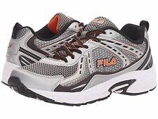 New FILA Mens Validation Running Shoes Size 8.5 M Silver Black Orange 7Photos