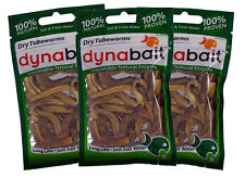 Dynabait tube worms 3x  (dehydrated fishing tackle, bait, 2 years shelf life)
