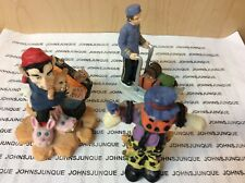 Halloween Figurines Resin Set Of Three Pumpkin Scarecrow/Pirate/Bellman