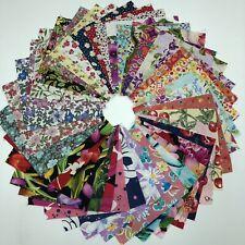 "Assorted Floral pre cut charm pack 5"" squares 100% cotton fabric quilt lot"