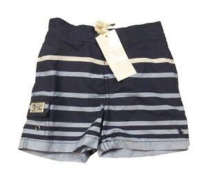 Polo Ralph Lauren Boys Blue Multi Stripe Swim Trunks