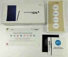 Nintendo DSi Bleu Metal BOITE VIDE et notice  PAS DE CONSOLE  Envoi rapide suivi