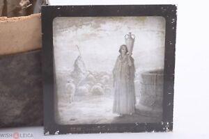 ✅ MAGIC LANTERN PROJECTION SLIDE GUSTAVE DORE BIBLE PICTURE JACOB & RACHEL  1