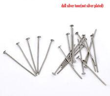 21 gauge 600PCs Silver Plated Head Pins 0.7x26mm