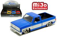 1/24 JADA Display N/B 1985 Chevrolet C-10 Pickup Custom Star Wheels 31623 MJ