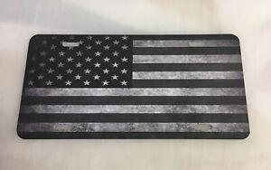 USA Black & White American Flag License Plate 1776 Army Liberty US 4x4 Freedom