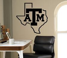 Wall Decal Texas A&M Aggies NCAA College Football Logo Vinyl Sticker Art (38nc)