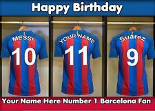 A5 Personalised Barcelona Football Dressing Room Greeting Birthday Card PID048