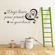 Dogs Leave Paw Prints Saying Decal Wall Sticker Decor Quote Decals Fashion Pro