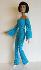 TYLER DOLL CLOTHES Mod Blue JUMPSUIT & JEWELRY SET Handmade Fashion NO DOLL d4e