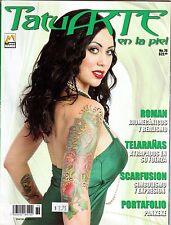 TatuArte en la piel, Revista Mexico, Tatuajes magazine Spanish, TATTOO