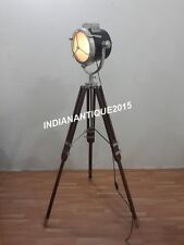 Hollywood Designer Nautical Searchlight Floor Lamp With Tripod Stand