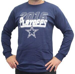 Dallas Cowboys Majestic 2016 NFL Playoffs Men's Long Sleeve Navy T-Shirt