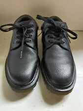 Dr Martens Doc mens Boston oxford lace-up Air Wair black shoes (AW004) size 10M