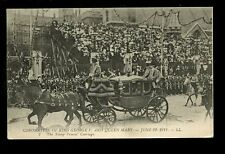 Royalty Coronation of GEORGE V and Mary Young Prines Carriage 1911 LL PPC
