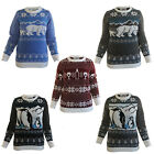 Ugly Christmas Party Sweater Women's Penguins Winter Knitted Sweatshirt
