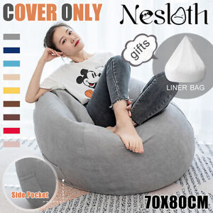 Large Bean Bag Chair Sofa Seat Cover Indoor Gaming For Adult Kids No   NEW