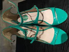 Diesel Strappy Green leather heels Size 4