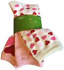 Kate Spade New York Yours Truly 3-Pack Trouser Socks Pink Cream Hearts ONE SIZE