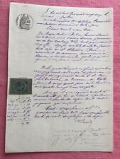 Antiguo francés escrito a mano manuscrito Julio de 1882 magnífico calligrapy Decoupage